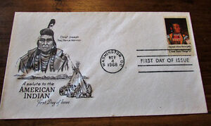 1968 Saluting American Indian 6 Cent First day Cover Kitchener / Waterloo Kitchener Area image 1