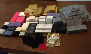 Large lot of jewelry gift boxes
