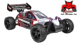 Redcat Racing Shockwave Nitro Gas Buggy 1/10 Starter RC Car RTR 4WD Truggy 2.67