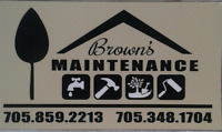BROWN'S  HOME MAINTENANCE