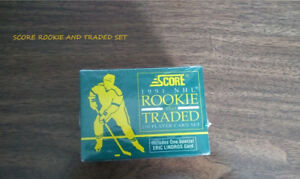 Factory-sealed 1991 Score NHL Rookie and Traded Set.