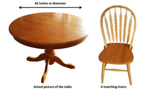 Dining Table & 4 Matching Chairs