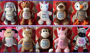 Personalized Embroidered Stuffies