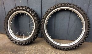 Motorbike/motorcycle tyres and rims x 2 Calista Kwinana Area Preview