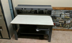 White U-Line Packing Table