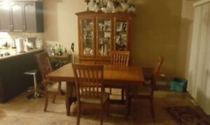 Kitchen table with hutch