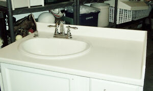 Corian Countertop, Sink and Faucet for 36 inch Vanity