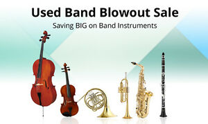 Used Band Blowout Sale - Saving Big on Band Instruments