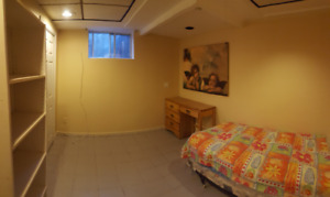 Room in a basement: bright, furnished, all included (North