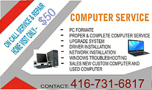 We do all computers and laptop repair at your place