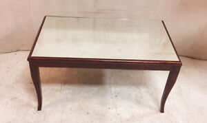 349: Vintage Mahogany Rectangular Coffee Table With Mirrored Top