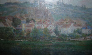 "Claude Monet ""Vetheuil"" Painted 1901 Textured Art Print Stratford Kitchener Area image 6"