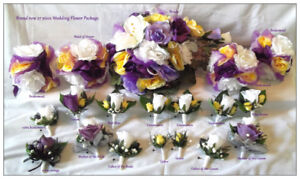 Brand new custom made silk wedding flower sets or packages