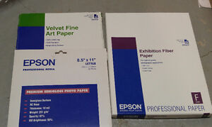 Photo Printer Paper (Epson, Canon, HP, Kodak)