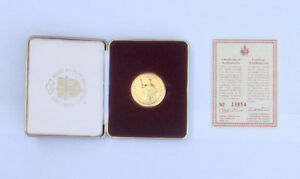 John Paul II 1984 Commemorative Gold Plated Coin