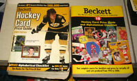 2 Price Guides BECKETT ANNUAL (les plus Gros) pour cartes Hockey