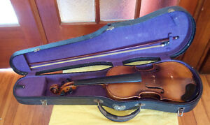 Vintage 1/2 size German violin with case and bow--REDUCED PRICE