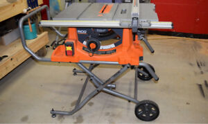 Rigid (Home Depot) mitre saw and table saw