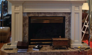 Heat-N-Glo direct vent natural gas fireplace and mantel