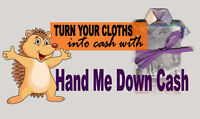 Get CASH for Clothing & Footwear