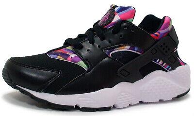 Nike HUARACHE RUN PRINT (GS) Sneakers Shoe 704946-003 BLACK/VIOLET sz 5Y, 5.5Y