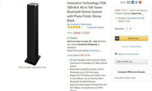Innovative Technology™ 40-Inch Bluetooth Stereo Tower Speaker