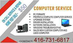 We do all computer and laptop repair at ur place