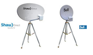 SHAW DIRECT / BELL SATELLITE DISH AND TRIPOD FOR CAMPING