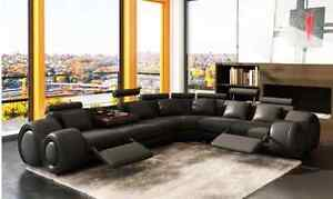 Exceptional Modern Leather Sectional