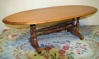 Perfect Roxton Oval Solid Maple Coffee Table SEE VIDEO
