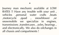 Mechanic available