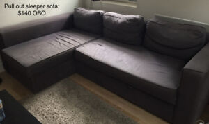 Grey Sofa (with pull out sleeper)
