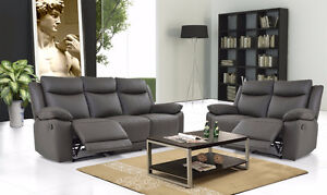 Premium Brand Reclining Sofa Set in Espresso Leather!  NEW! Comox / Courtenay / Cumberland Comox Valley Area image 1