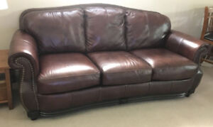 Almost New Top Grain All Leather Couch, Delivery Available