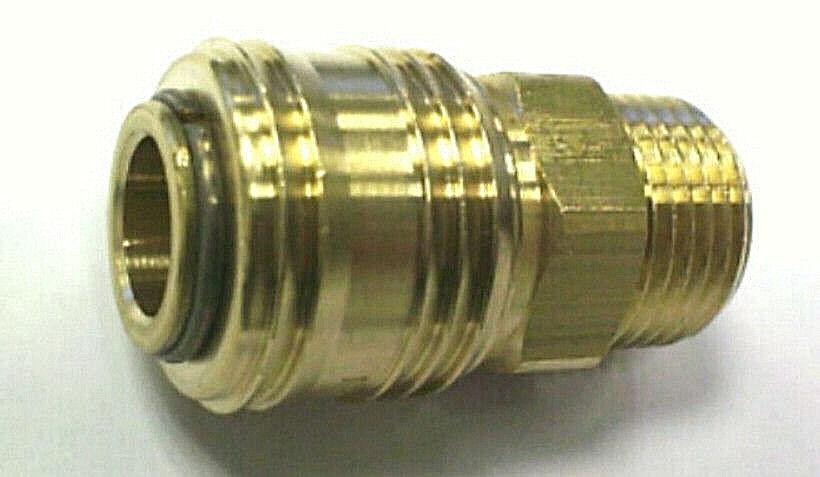 Druckluftschnellkupplung Stecknippel Stecktülle Messing blank NW 7.2 mm