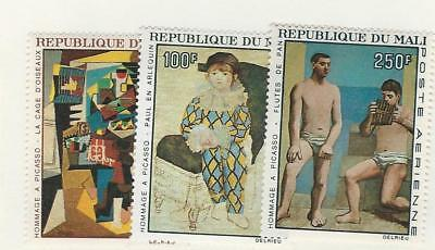 Mali, Postage Stamp, #C46-C48 Mint Hinged, 1967 Art, Picasso