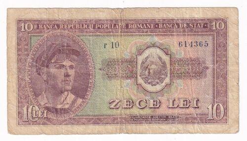 Romania 10 lei 1952 P# 88b F (e333)