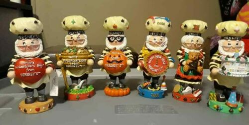 Hershey Collectibles Lot of 6 Kurt Adler Holiday Variety Figurines