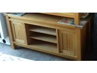 Solid Oak TV Cabinet / Sideboard.