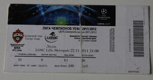 old TICKET CL CSKA Moscow Russia OSC Lille France - <span itemprop=availableAtOrFrom>Poznan, Polska</span> - old TICKET CL CSKA Moscow Russia OSC Lille France - Poznan, Polska
