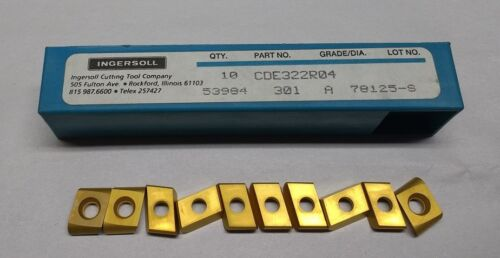 NEW 20PCS. INGERSOLL CDE 322 R04 GRADE: 301 A CARBIDE INSERTS,   FREE  SHIPPING