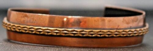 """Vintage Brass 1/2"""" Cuff Bracelet Bangle"""
