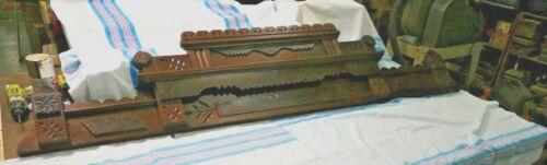 Antique ~ Salvage ~ Walnut Eastlake Pediment~Crown for Wardrobe~Sideboard  #2181