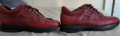 Hogan Interactive Red Burgundy Leather Shoes Size 11.5