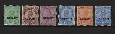 Kuwait #1, #3-7 mint, cat. $ 42.75