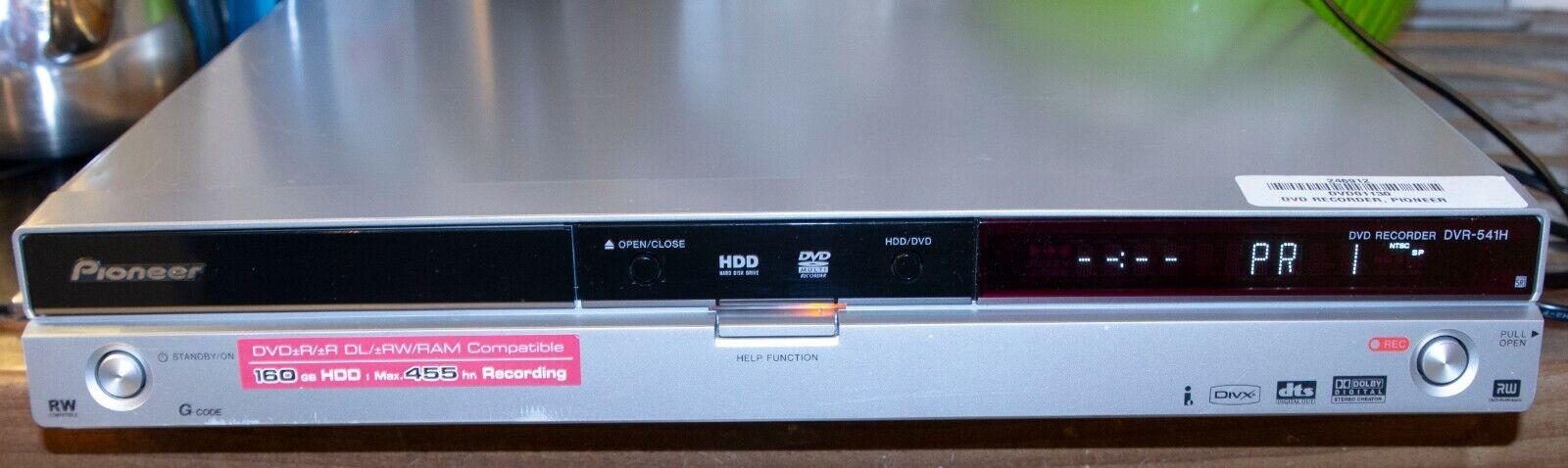 Pioneeer DVR-541H Festplatten Recorder VDV Play DIVX DVB-C DVD Recorder