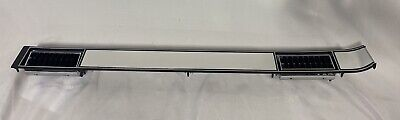 NEW 81-87 Chevy GMC pickup truck dash plate cover brushed aluminum w/ AC vents