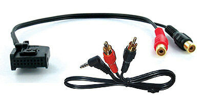 Mercedes Comand 2.0 aux input 3.5mm jack lead car radio iPod adapter CT29MC02