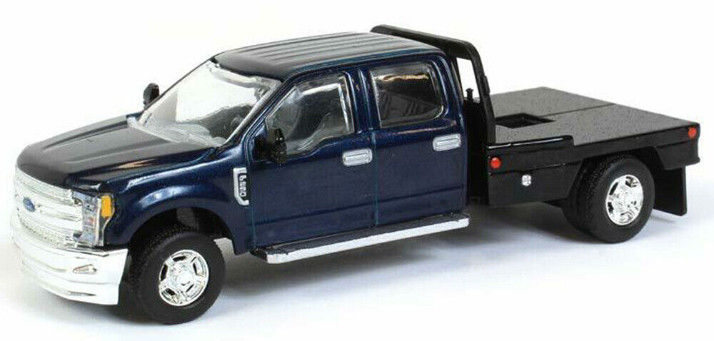 Ford F-250 Blue Pickup w/Flatbed 1/64 Scale Diecast Metal SpecCast 52613