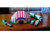 Billy Smarts circus with tent and vechicles